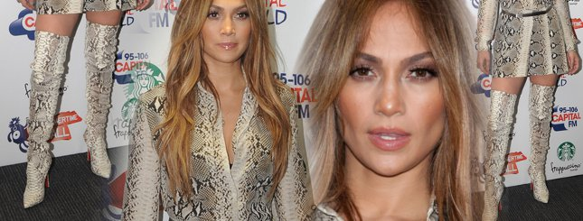 Jennifer Lopez w wężowym wzorku (FOTO)