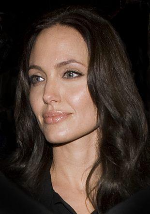 Angelina jak z wosku, u boku wąsaty Brad (FOTO)