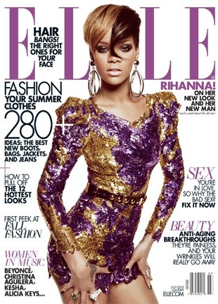Rihanna w Elle: Jestem szczęśliwa (FOTO)