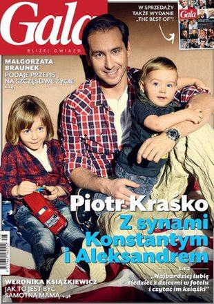 Piotr Kraśko z synami na okładce Gali (FOTO)