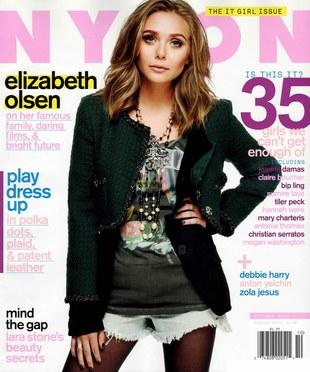 Elizabeth Olsen na okładce Nylon (FOTO)