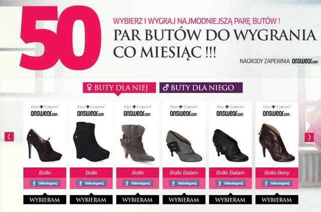 Wybierz buty i… wygraj je!
