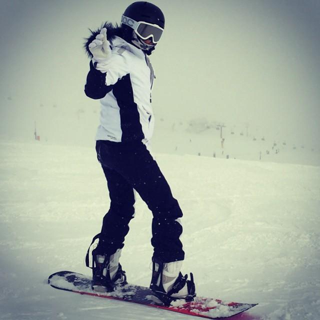 Natalia Siwiec uprawia snowboard