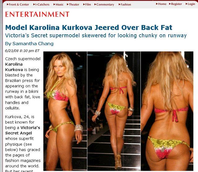 Czy Karolina Kurkova jest gruba?