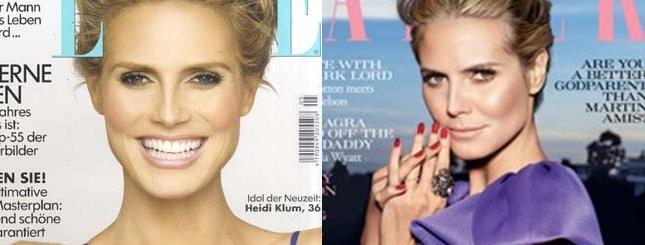 Dwie majowe okładki z Heidi Klum (FOTO)