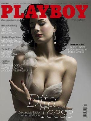 Dita Von Teese w niemieckim Playboyu