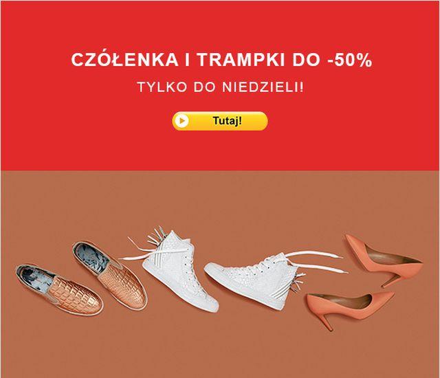 Czółenka i trampki do 50% taniej w Zalando!