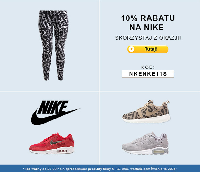 10% rabatu od Zalando na produkty Nike!