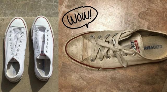 SZOK! Przepis na wyczyszczenie białych butów. To takie proste