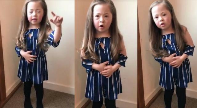Dziewczynka z Zespołem Downa wzrusza na filmiku. Gwiazdy wspierają akcję