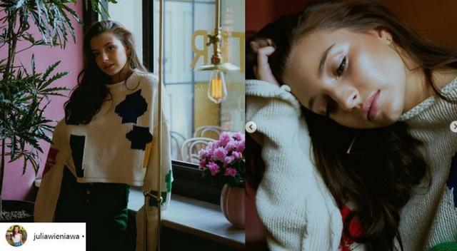 Wieniawa przed premierą Kobiet mafii, chwali się nowym swetrem. Jest stresik?