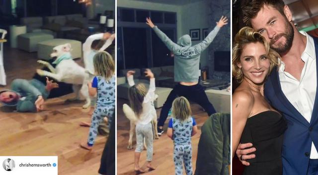 TAK wygłupia się z dziećmi Chris Hemsworth, kiedy nikt nie patrzy!