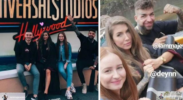 Doborowe towarzystwo: Mucha i Deynn razem na wycieczce po Hollywood