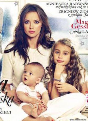Anna Przybylska z dziećmi na okładce Vivy! (FOTO)