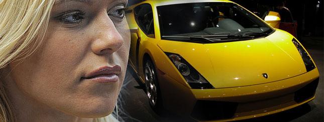 Doda ma żółte Lamborghini
