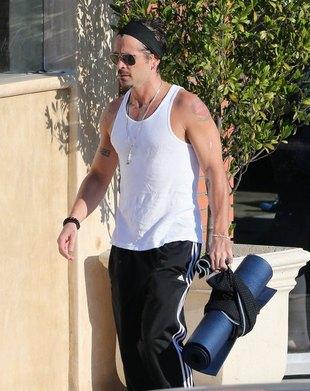 Colin Farrell po treningu (FOTO)