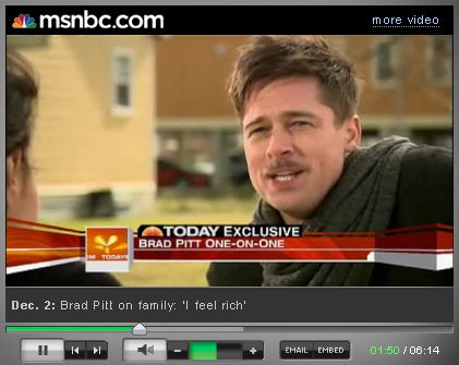 Brad Pitt: Czuję się bogaty