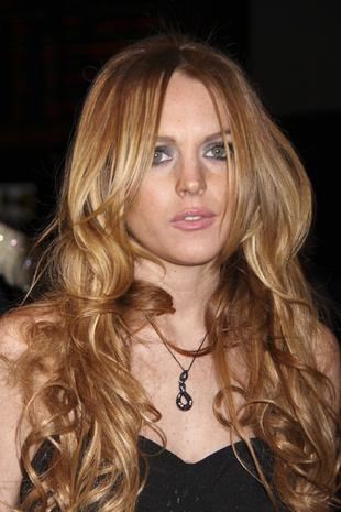 Lindsay Lohan obsypana mąką