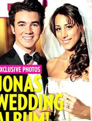 Ślubne zdjęcie Kevina Jonasa i Danielle Deleasa