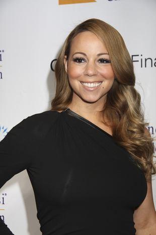 Mariah Carey w za małej sukience