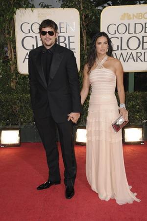 Seksowna, brązowa Demi Moore i Ashton Kutcher