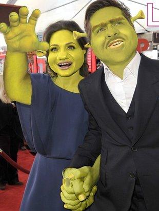Brangelina jako Shrek i Fiona (FOTO)