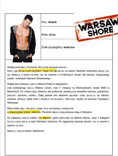 Wojtek - Warsaw Shore