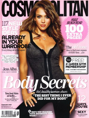 Bardzo seksowna Jessica Alba dla Cosmopolitan (FOTO)