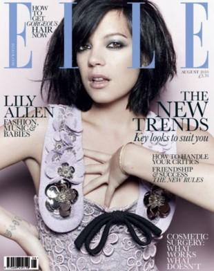 Lily Allen w Elle: Pijackie rozmowy z Lagerfeldem (FOTO)