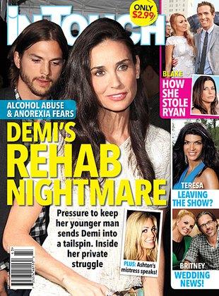 Demi Moore ucieka w alkohol, ma problemy z jedzeniem