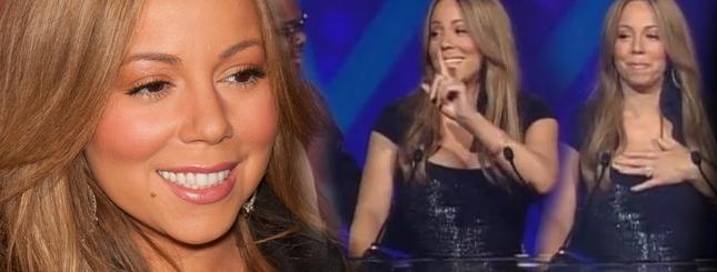 Pijana Mariah Carey nie mogła wygłosić przemówienia! [VIDEO]