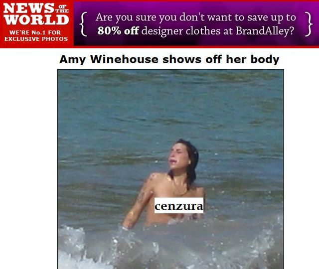 Amy Winehouse topless! (FOTO)