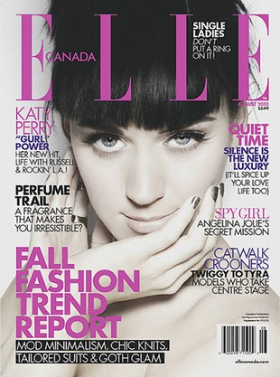 Katy Perry w Elle: Wysyłam Russelowi zdjęcia nagich piersi