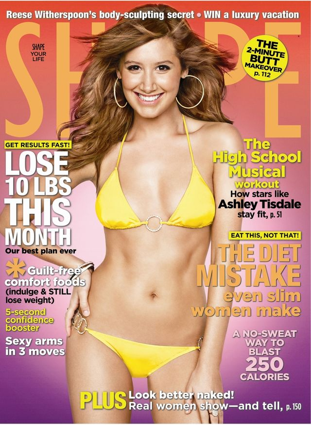 Ashley Tisdale na okładce Shape