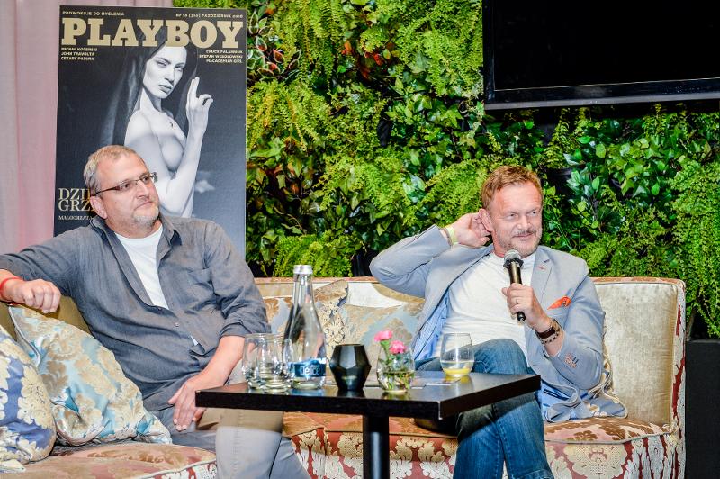Warnke ze Stramowskim, Lubos i Miss Earth na wernisażu Playboya