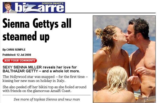 Sienna Miller topless z żonatym facetem