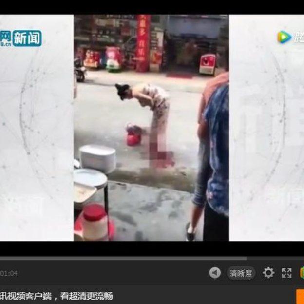 W Chinach kobieta urodziła dziecko na ulicy
