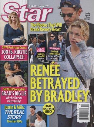 Renee Zellweger zerwała z Bradleyem Cooperem