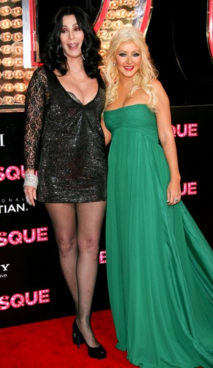Cher i Christina Aguilera na premierze Burlesque (FOTO)
