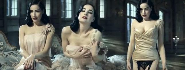 Dita Von Teese w erotycznej reklamie Perrier (FOTO)