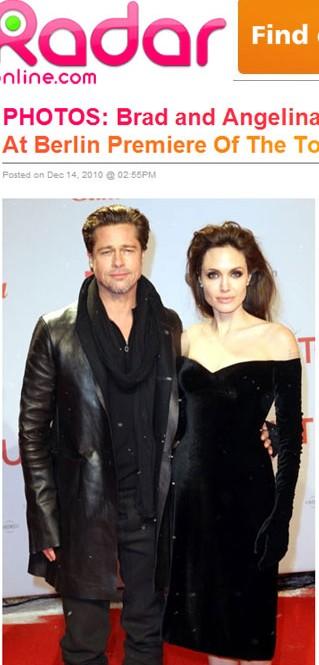 Angelina Jolie – czerń w Berlinie na premierze The Tourist