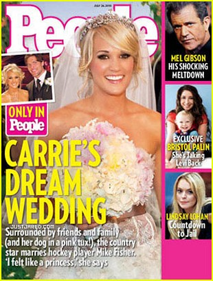 Pierwsze zdjęcia ze ślubu Carrie Underwood (FOTO)