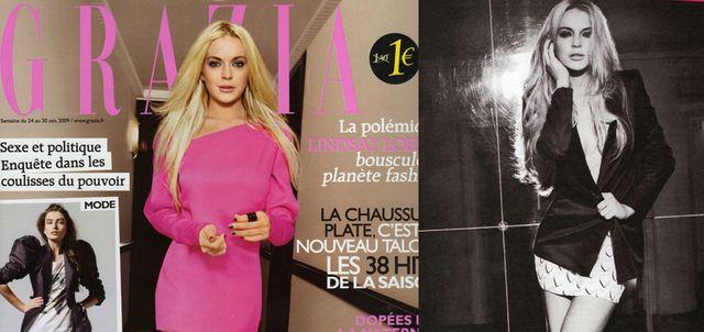 Lindsay Lohan w magazynie Grazia (FOTO)