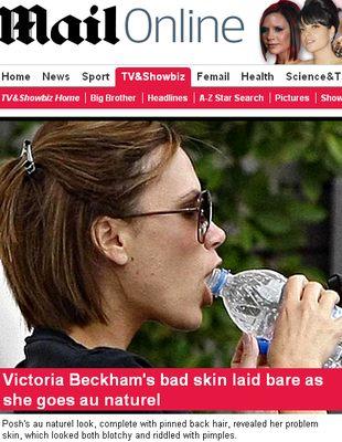 Victoria Beckham bez makijażu