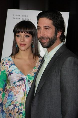 David Schwimmer ze swą ciężarną żoną (FOTO)