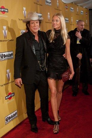 Mickey Rourke ze swą Eleną (FOTO)