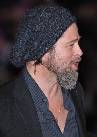 Brad Pitt zgolił brodę