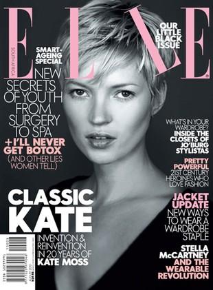 Kate Moss odmłodzona w Elle (FOTO)