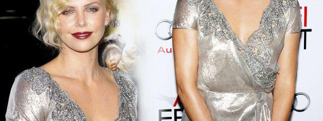 Charlize Theron - pełna elegancji w srebrze (FOTO)