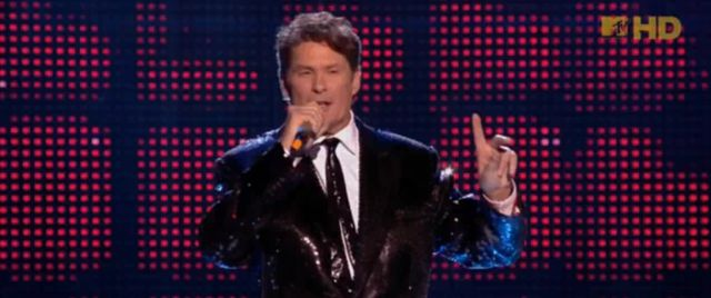 David Hasselhoff był pijany na MTV EMA! (VIDEO)